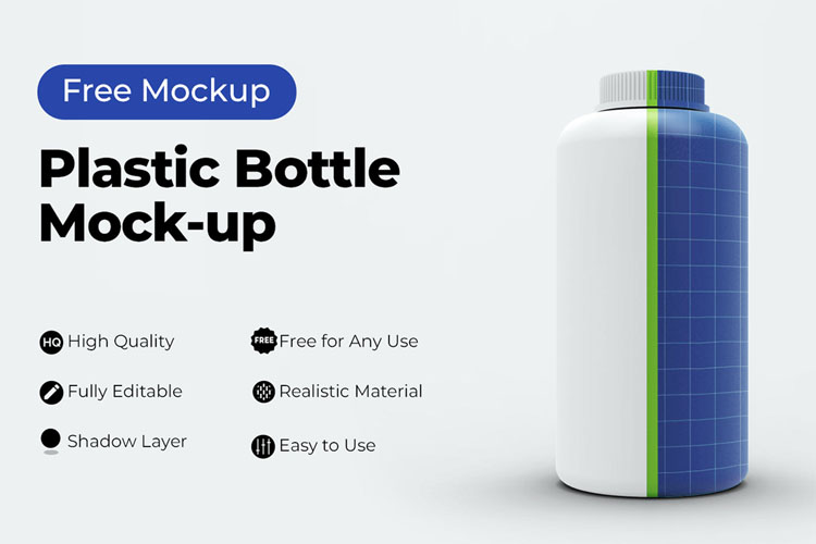 Download Free Plastic Bottle Mockup PSD 2020 - Mockups Freebies Free Mockups